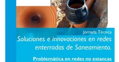 Jornada Técnica: Soluciones e innovaciones en redes enterradas de Saneamiento